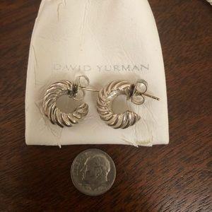 David Yurman cable shrimp earrings.